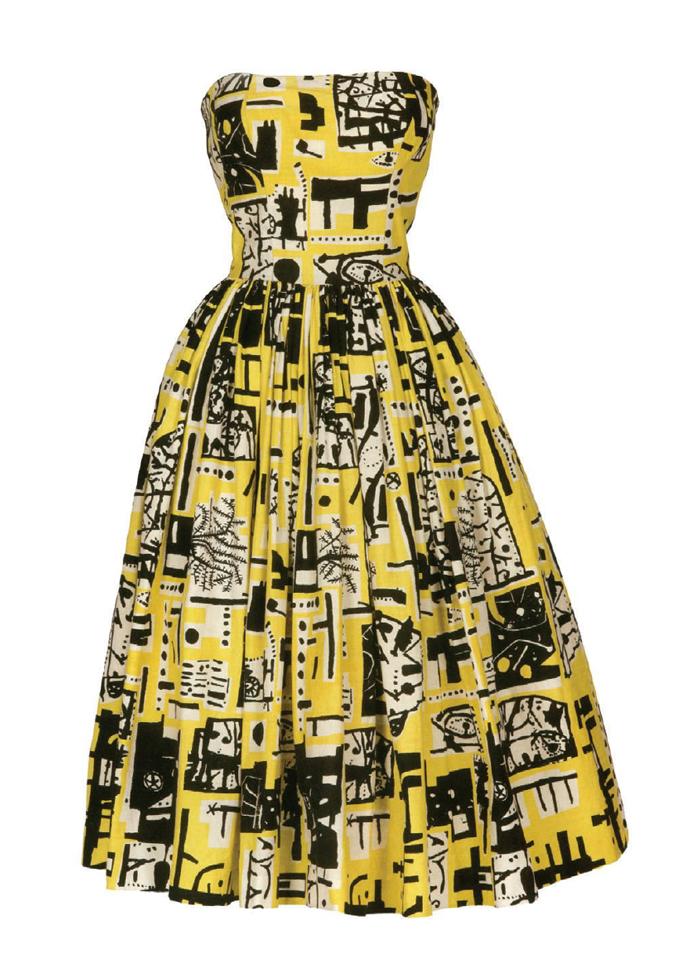 Коктейльное платье Fashions от Horrockses, 1953. фото